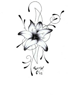 Bombom art 39 s tattoo lys arabesque - Fleur tatouage dessin ...