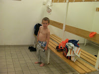 changing for swimming lesson