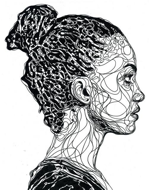 Line Drawing Portrait Artists : Sam a la mode kris trappeniers