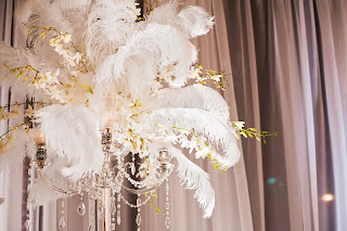 Ostrich feather wedding decoration