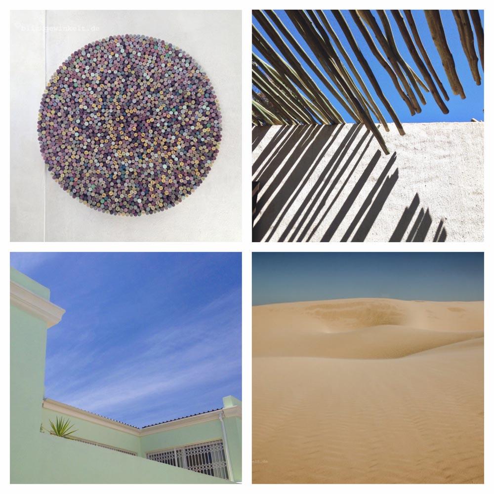Collage mit Fotos von Formen & Farben