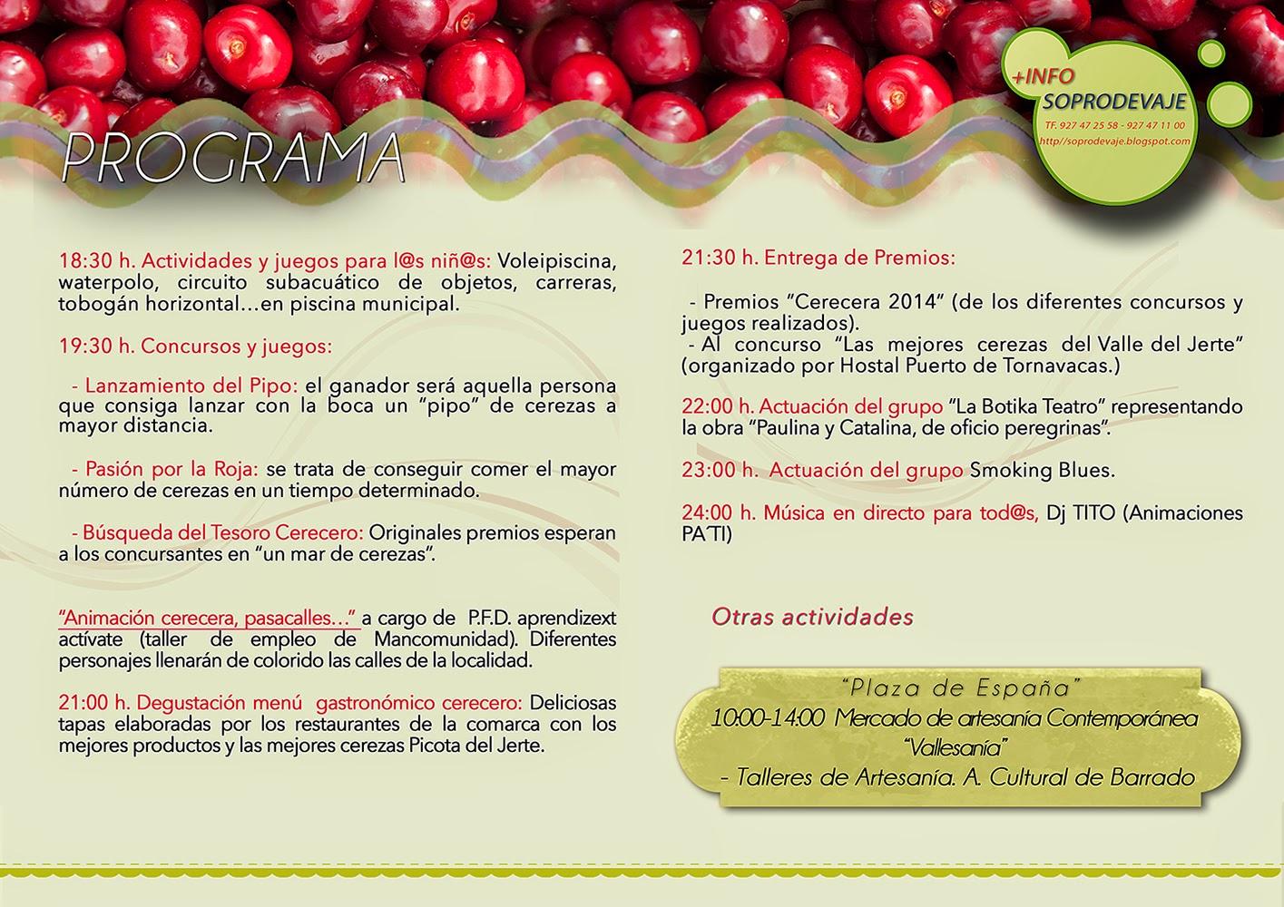 Programa Convivencia Cerecera 2014. Valle del Jerte