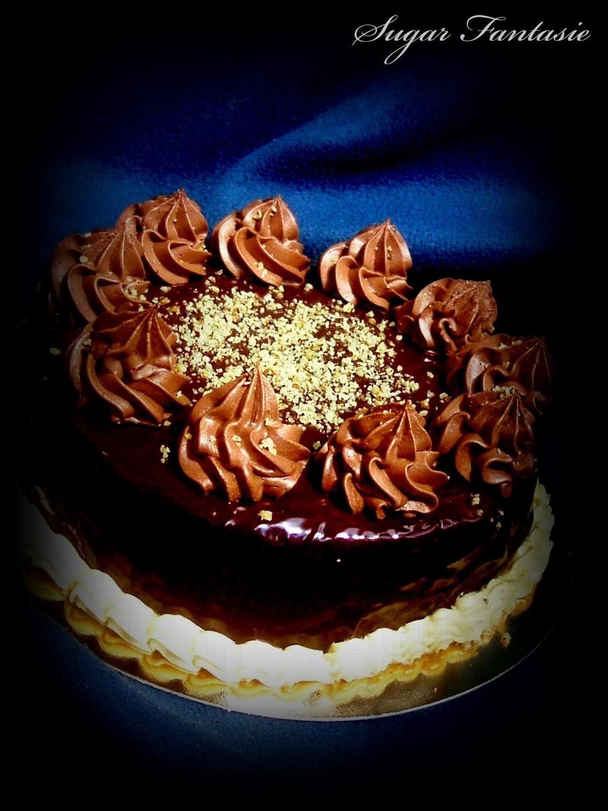 Csokis mogyorótorta