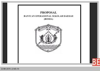 CONTOH FORMAT PROPOSAL BOS DAERAH TAHUN 2015-2016 DENGAN MICROSOFT WORD