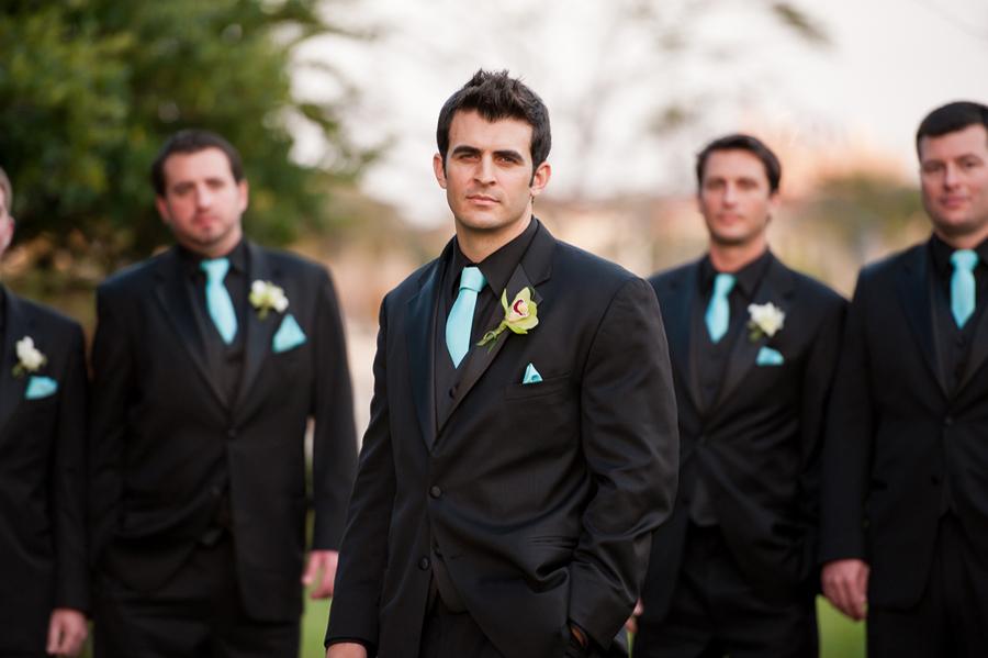 monochromatic groomsmen tuxex