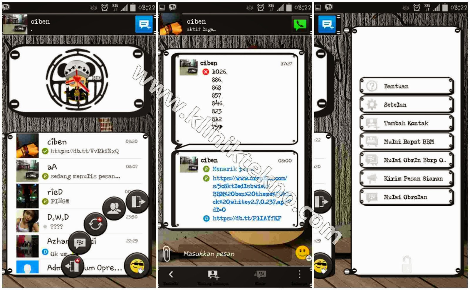 Download BBM Theme Black White v2.7.0.23 terbaru 2015