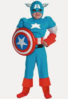 Captain America Deluxe Muscle Child Costume