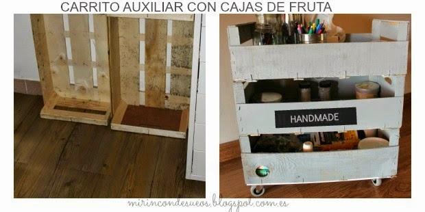 Mi rinc n de sue os como hacer un carrito low cost con cajas for Carrito auxiliar cocina