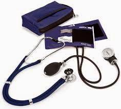 جهاز قياس ضغط الدم ساعة وسماعة طبيب Aneroid blood pressure monitor