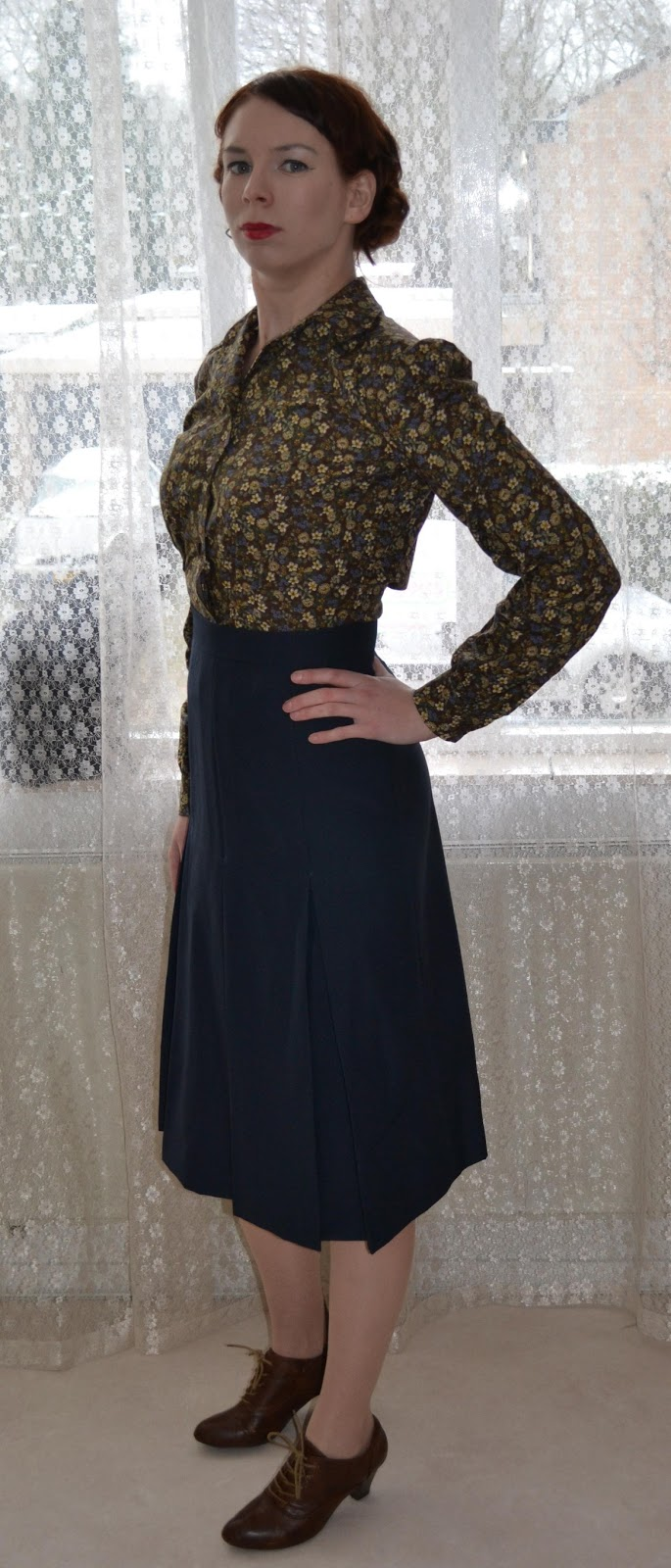 Self drafted skirt and Simplicity 3638 made by Anthea