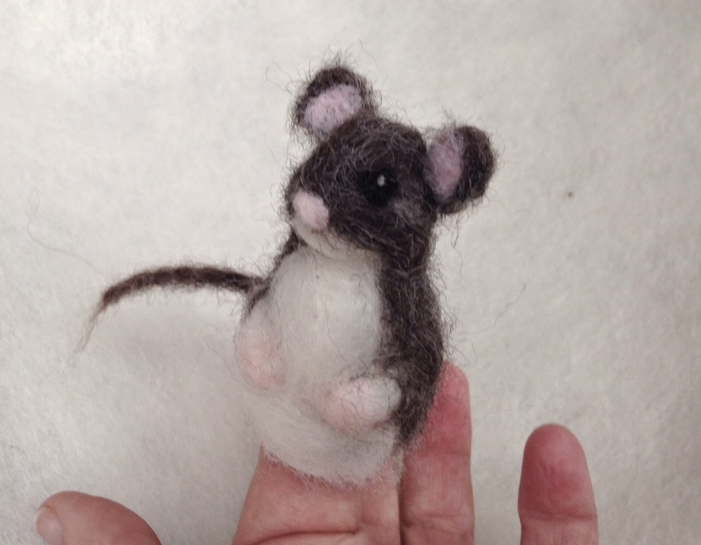 Needle Felted Mouse for Hickory Dickory Dock