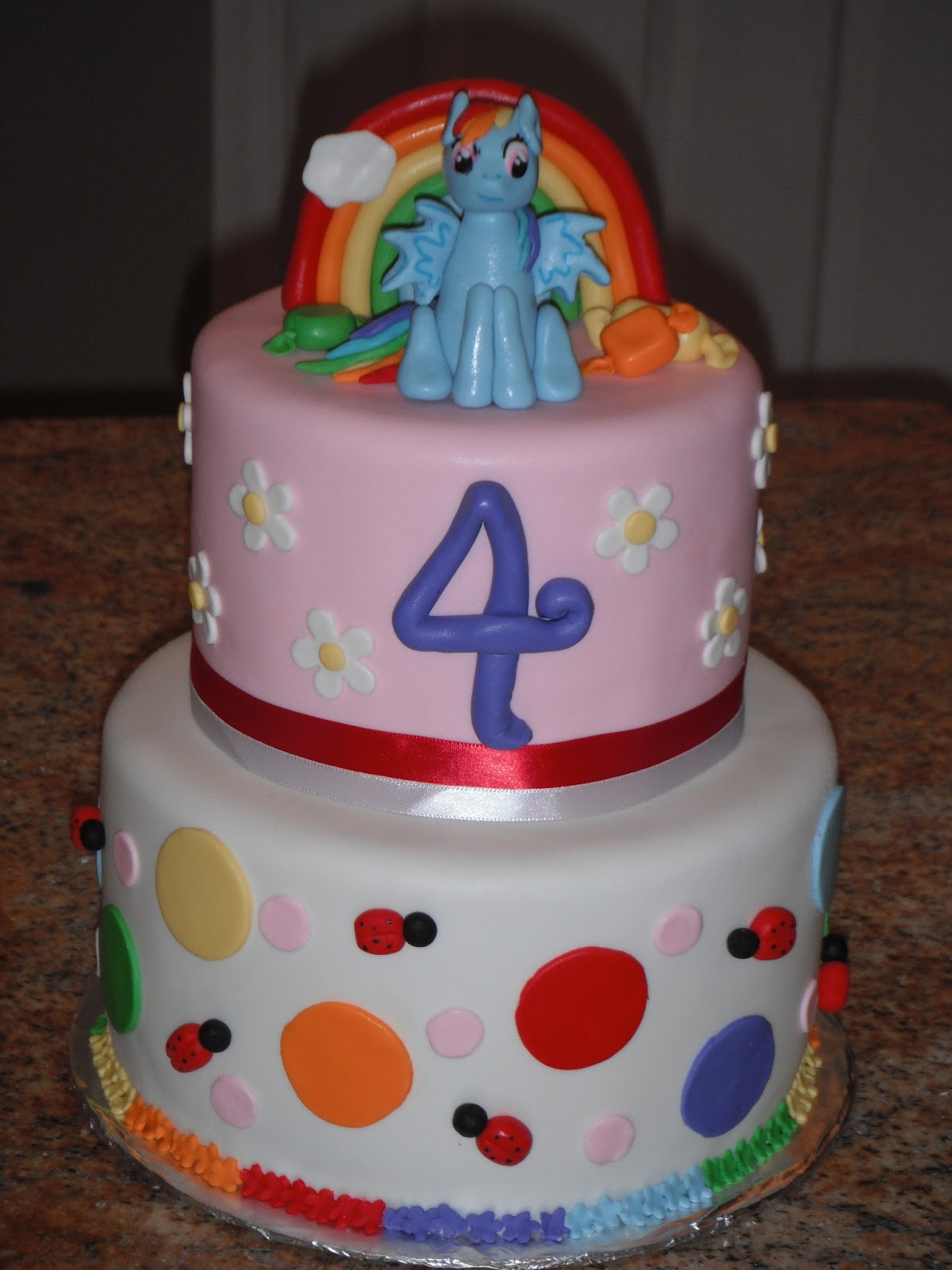 Cassy 39 s cakes my little pony cake and cookies for Rainbow dash cake template