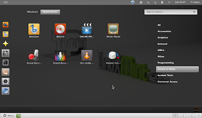 GNOME Shell in Linux Mint 12