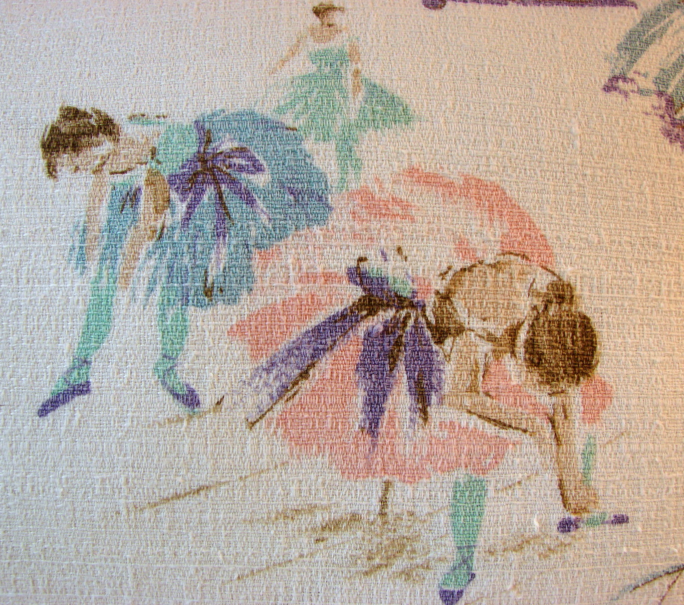 Custom Comforts Vintage Barkcloth Fabric