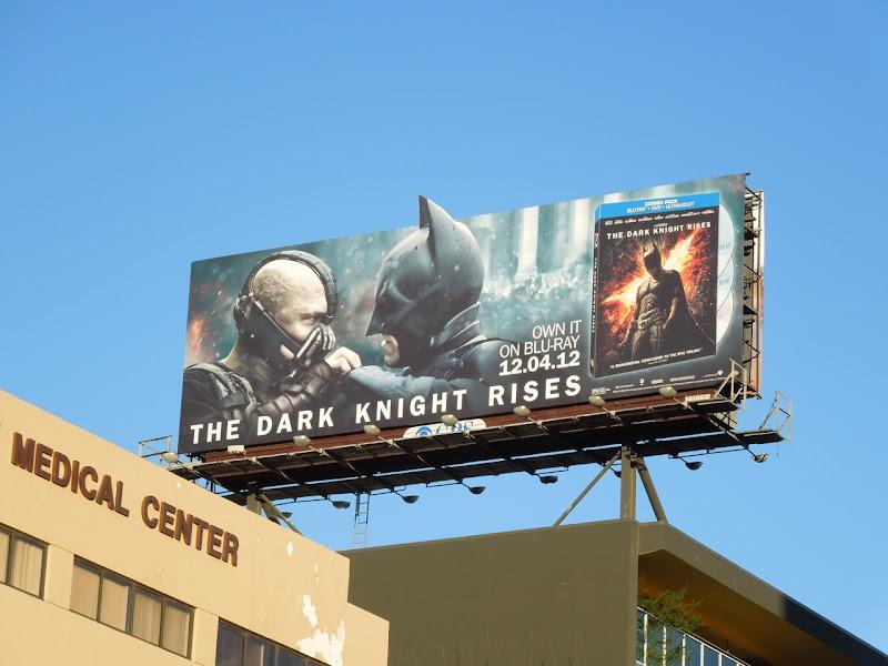 Dark Knight Rises Bluray billboard