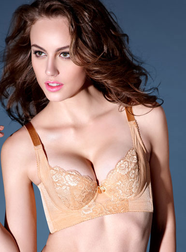 Champagne Cotton Posture Bra models