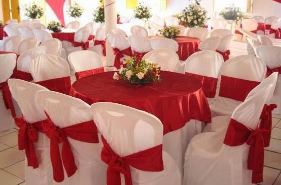 Decoração de casamento Vermerlho e branco cadeira
