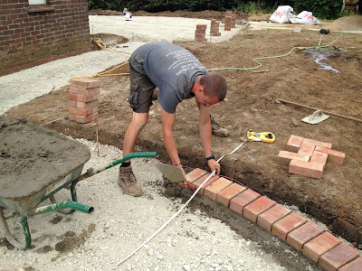 Orchard priory blog landscape design build july 2013 - How to lay brick border edging ...