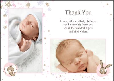 mummyslittlepeeps: Baby Thank You cards