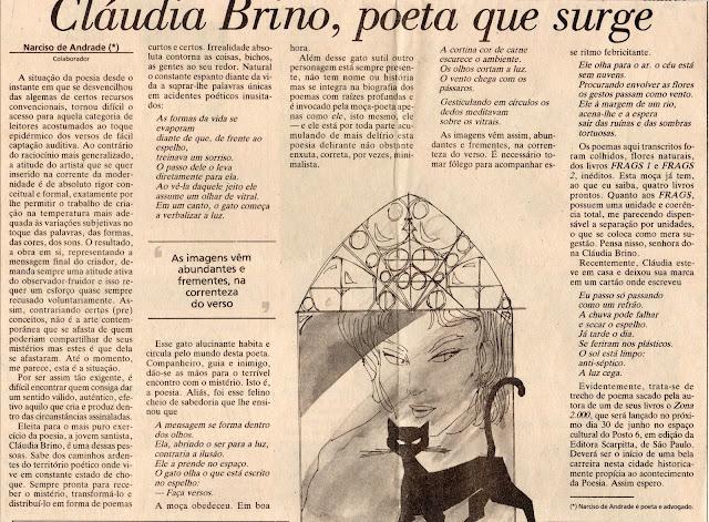 texto de Narciso de Andrade para o jornal A Tribuna