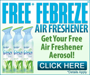 HURRY! FREE Febreze Sample! ~ Free Stuff
