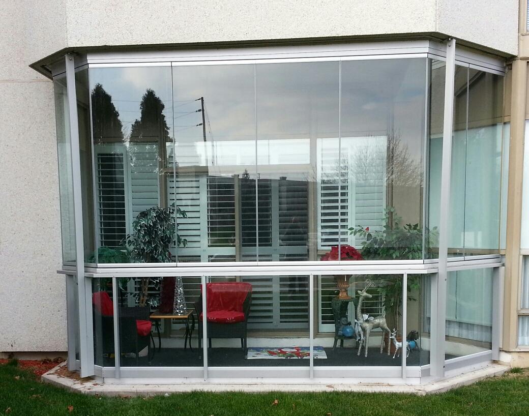 shutters installed in condo solarium in Mississauga