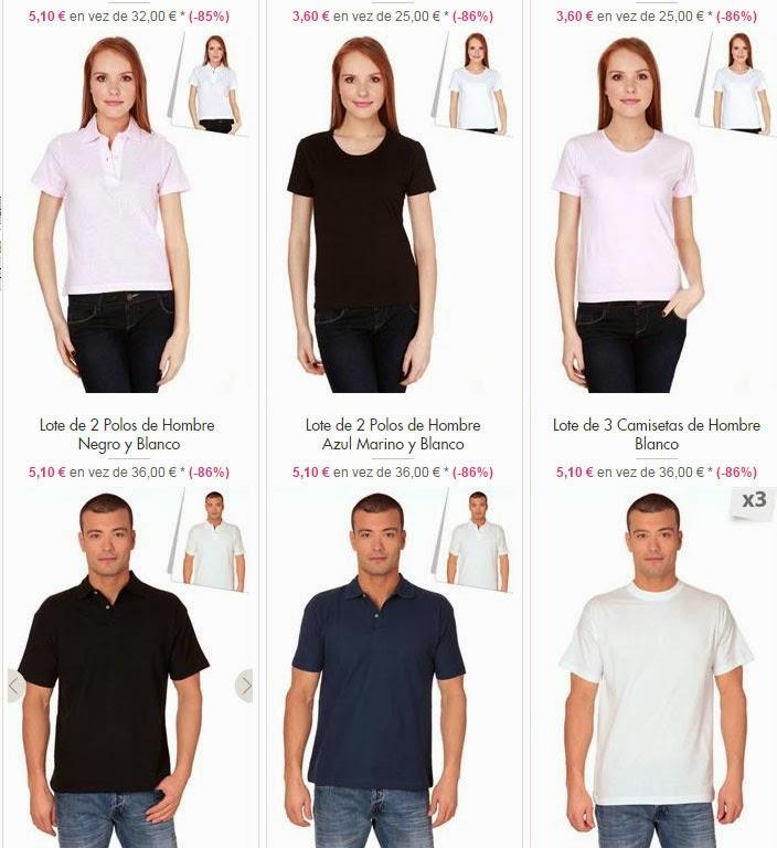 Oferta de polos y camisetas para hombre y mujer