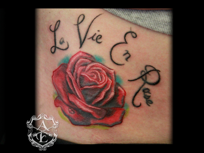 arrows and embers custom tattooing la vie en rose tattoo