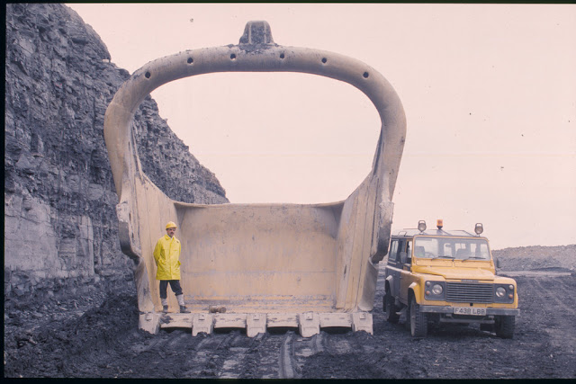 Big Geordie's bucket. Butterwell Opencast Coal Site, Northumberland.
