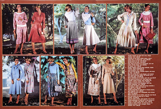 Encarte moda revista Manchete - 1978 - Prelude