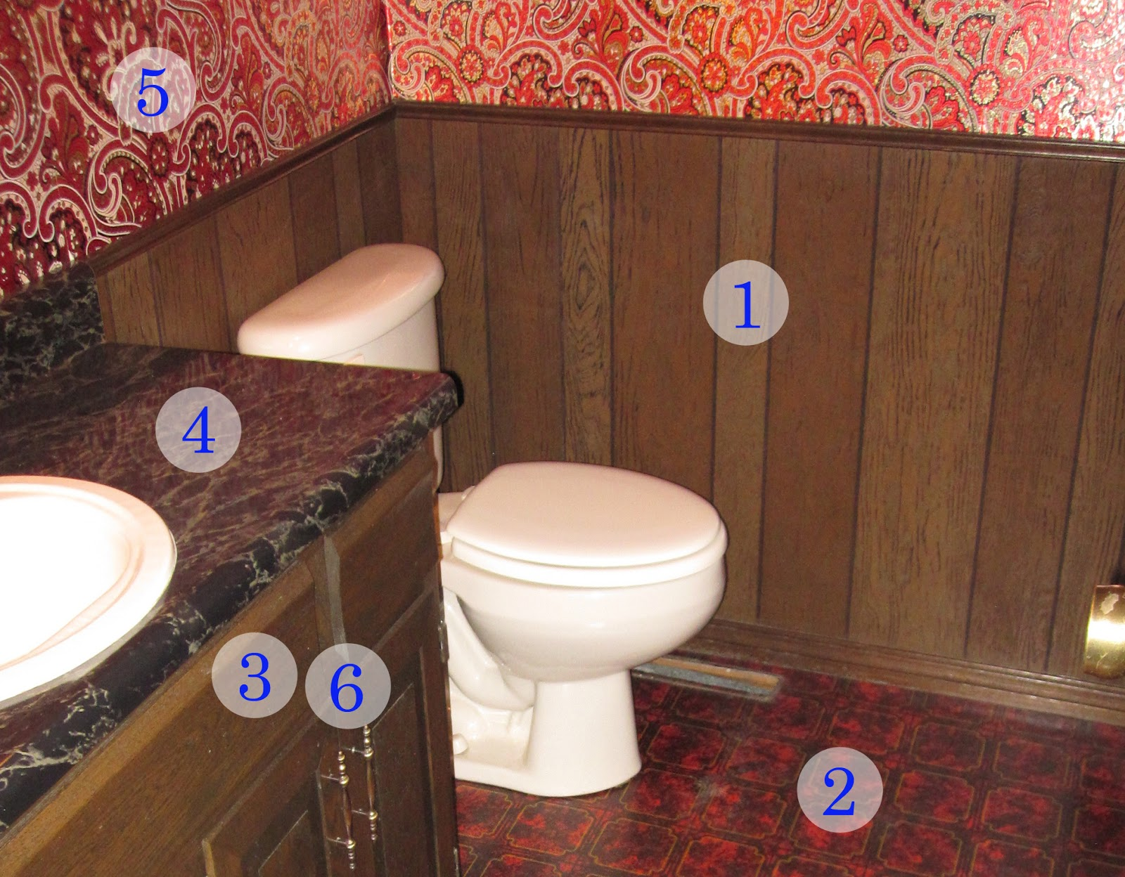 Twine how to update a 70 39 s bathroom Ways to update wood paneling