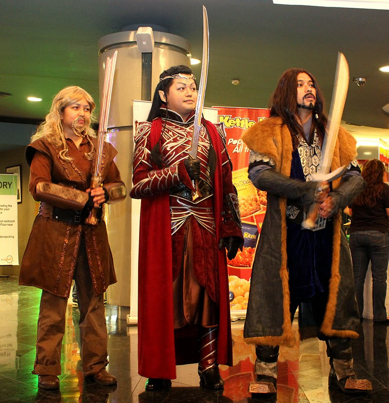 Fili, Lord Elrond, Thorin Oakenshield costumes by Ruby Bayan