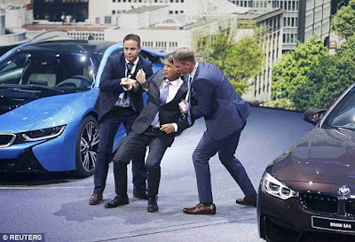 BMW chief executive Harald Krueger faints at news BMW unveiling!