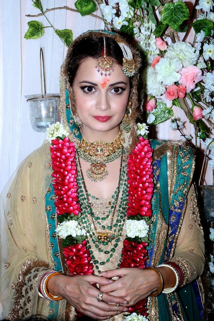 Dia Mirza-Sahil Sangha wedding Photos