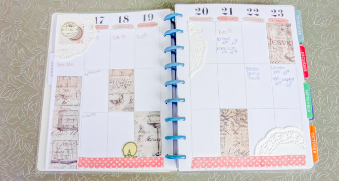A little bit of Vintage - planner decoration