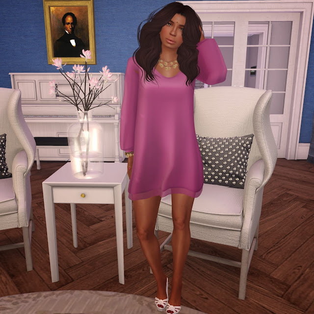 Pepe Serenity Dress in Lilac worn by Angie Mornington in Second Life