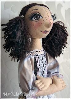 Авторская интерьерная кукла тыквоголовка