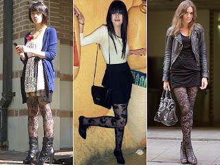 imagens de looks de Vestido com Meia-calça