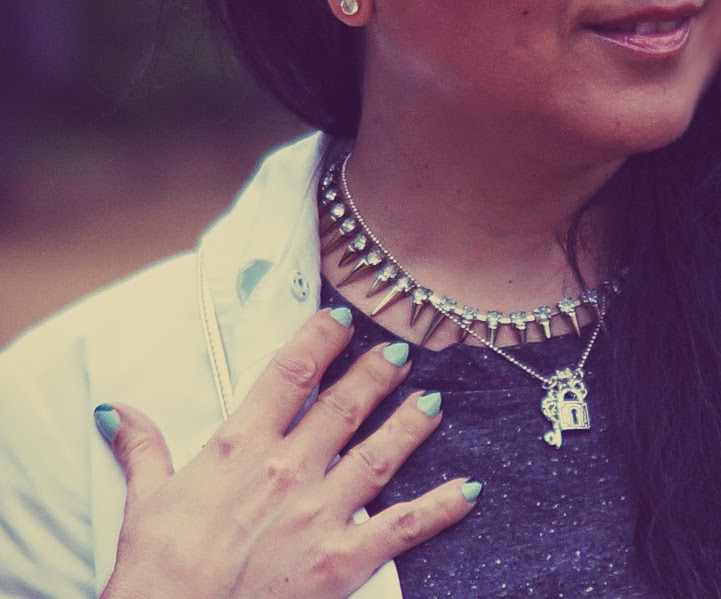 metallic+necklace