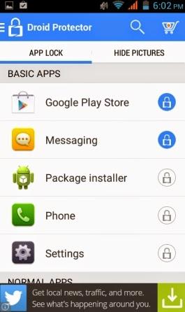 Aplikasi Pengunci aplikasi, foto, video di android