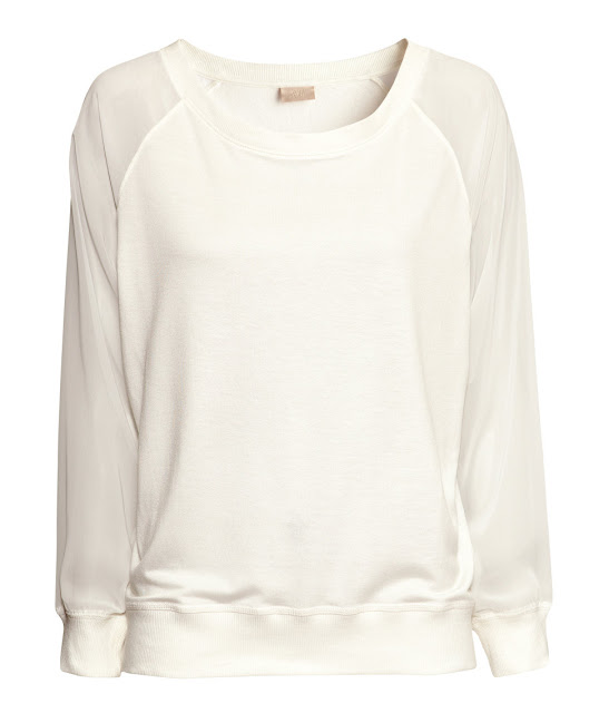 sweater sheer sleeves