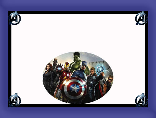 Para hacer invitaciones, tarjetas, marcos de fotos o etiquetas, de los Vengadores para imprimir gratis.