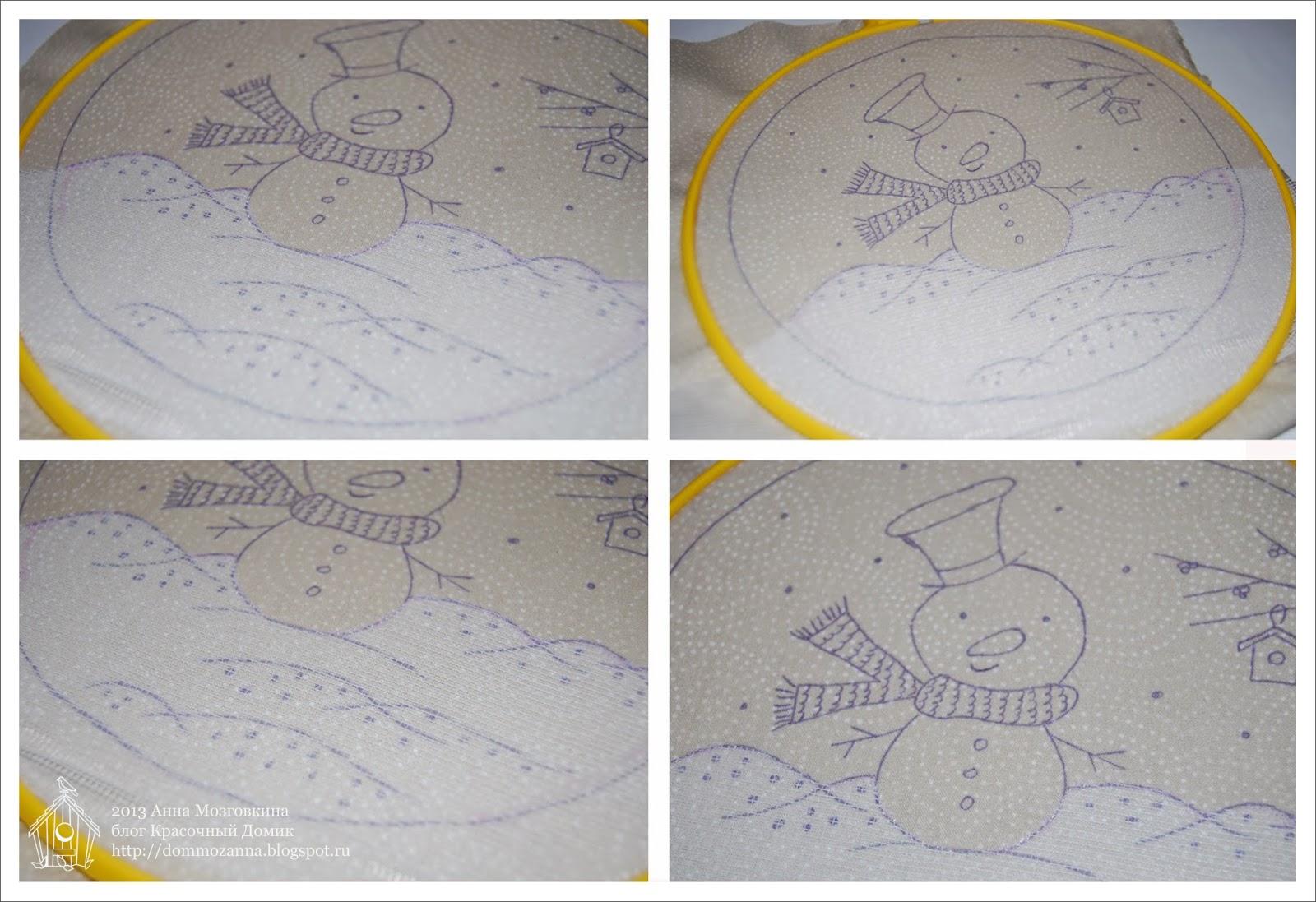 Как перевести рисунок вышивки на грубую ткань, трикотаж или 100
