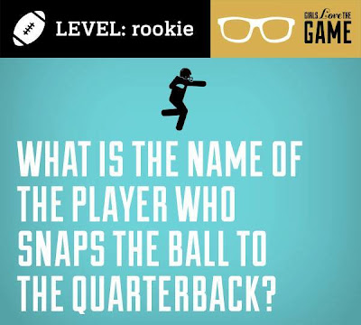 What is the name of the player who snaps the ball to the quarterback?