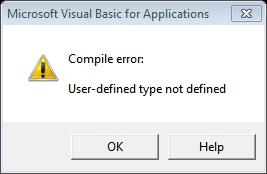 VBA Compile Error