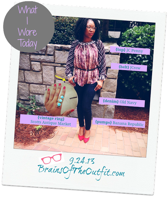 old navy, scott antique market, banana republic, j crew, JC Penny, Duro Olowu, What I Wore Today, Brains of the Outfit