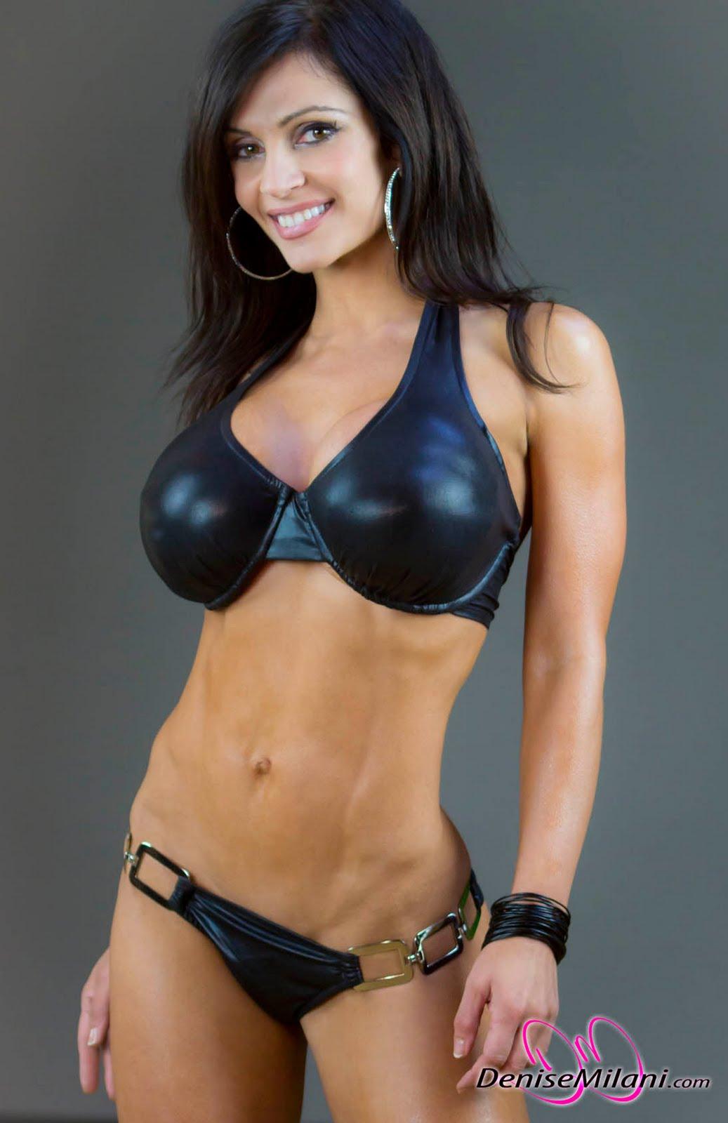 Denise Milani Black Bikini