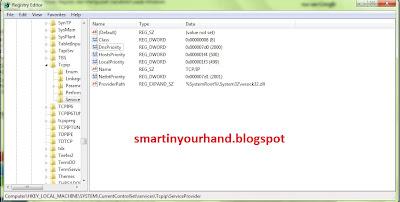 cara mempercepat koneksi internet windows 7 dengan manipulasi registry