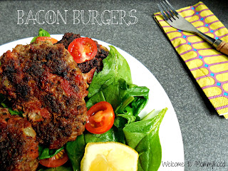 Bacon burger recipe by Welcome to Mommyhood #paleo #meat #baconburgers