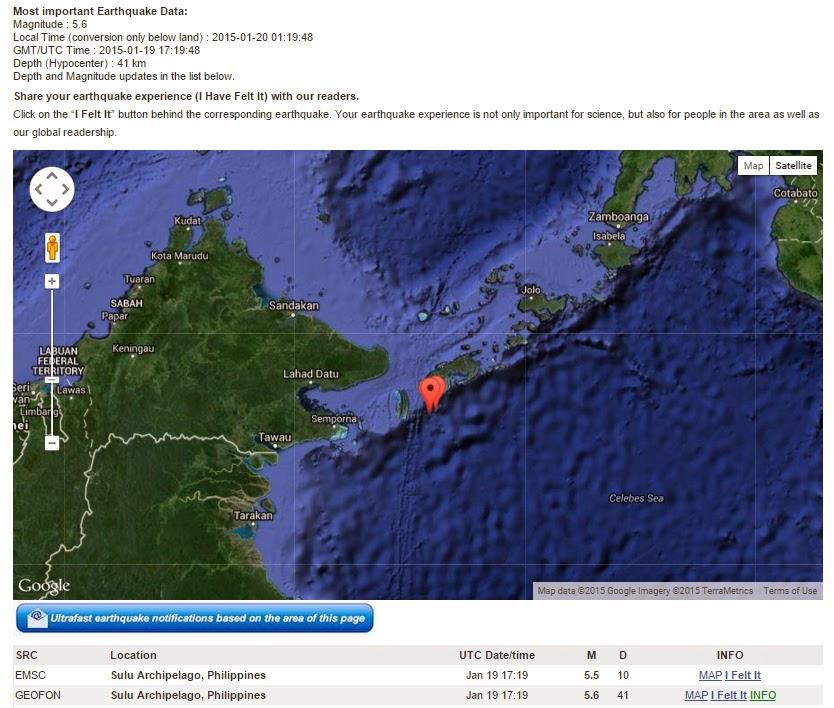 Gempar Penduduk Tawau Dikejutkan Gegaran Gempa Bumi Di Filipina